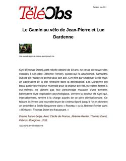 Le Gamin au vélo de Jean-Pierre et Luc Dardenne