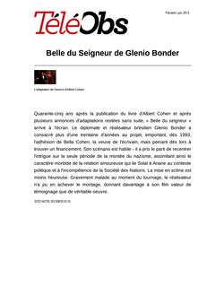 Belle du Seigneur de Glenio Bonder