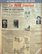 LE PETIT JOURNAL  numéro 24300 du 28 juillet 1929