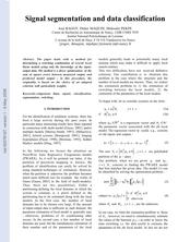 Signal segmentation and data classification