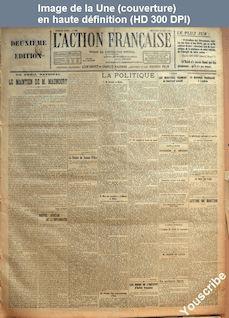 L' ACTION FRANCAISE  numéro 233 du 22 août 1923