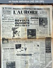 L' AURORE  numéro 1500 du 09 juillet 1949