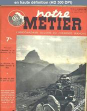 NOTRE METIER LA VIE DU RAIL numéro 135 du 27 janvier 1948