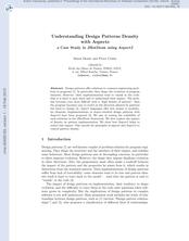 Understanding Design Patterns Density with Aspects: A Case Study in JHotDraw using AspectJ