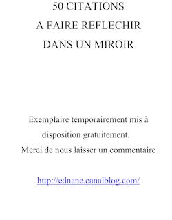 50 CITATIONS A FAIRE REFLECHIR (dans un miroir)