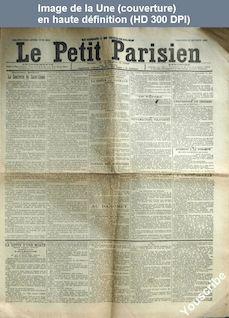 LE PETIT PARISIEN  numéro 5843 du 26 octobre 1892