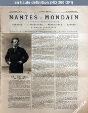 NANTES MONDAIN numéro 9 du 24 novembre 1900