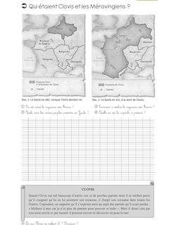 Histoire CM1 – Clovis et les mérovingiens