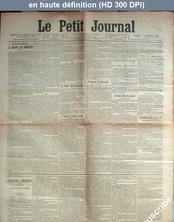 LE PETIT JOURNAL  numéro 14225 du 07 décembre 1901