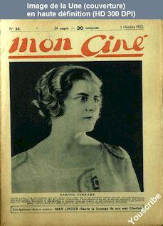 MON CINE numéro 33 du 05 octobre 1922