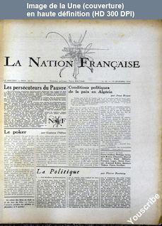 LA NATION FRANCAISE  numéro 63 du 19 décembre 1956