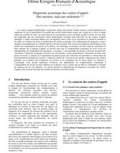 Diagnostic Acoustique des Centres d'Appels : des mesures, mais pas seulement ? !