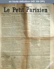 LE PETIT PARISIEN  numéro 4885 du 14 mars 1890