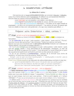 Corrigés de dissertations et de commentaires de texte, site d'aide en ...