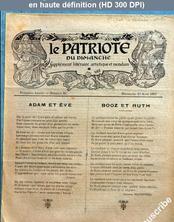 LE PATRIOTE DU DIMANCHE  numéro 16 du 15 août 1897