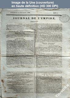 JOURNAL DE L'EMPIRE du 25 novembre 1808
