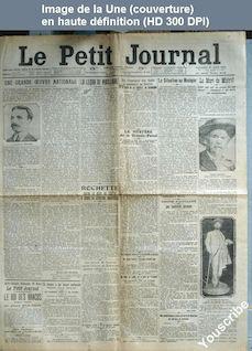 LE PETIT JOURNAL  numéro 18718 du 27 mars 1914