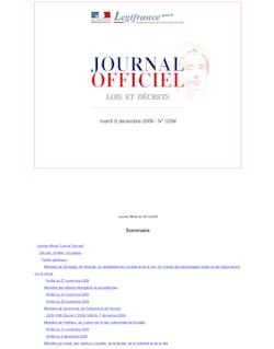 JORF n°0284 du 8 décembre 2009