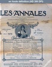LES ANNALES POLITIQUES ET LITTERAIRES  du 21 mars 1909