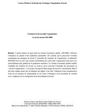 Comment l'écrit travaille l'organisation : le cas des normes ISO 9000