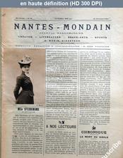 NANTES MONDAIN numéro 14 du 29 décembre 1900