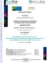 Pollinisation inter-parcellaire chez le maïs: analyse et coupage des processus conditionnant la présence du pollen viable en fonction de la distance à la source