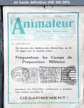 L' ANIMATEUR DES TEMPS NOUVEAUX  numéro 33 du 22 octobre 1926
