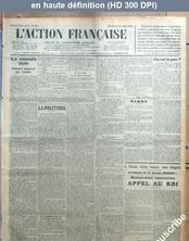 L' ACTION FRANCAISE  numéro 317 du 13 novembre 1929