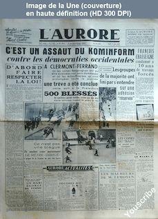 L' AURORE  numéro 1169 du 17 juin 1948
