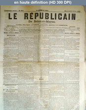LE REPUBLICAIN DE SEINE ET MARNE  numéro 657 du 02 juin 1880