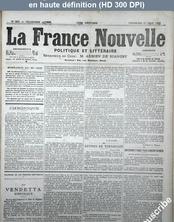 LA FRANCE NOUVELLE  numéro 550 du 27 juin 1873