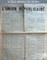 L' UNION REPUBLICAINE DE FONTAINEBLEAU  numéro 1939 du 03 avril 1896