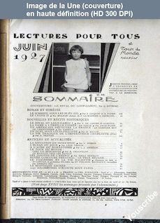LECTURES POUR TOUS du 01 juin 1927