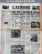 L' AURORE  numéro 2863 du 26 novembre 1953