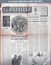 LA BATAILLE  numéro 4 du 21 décembre 1944