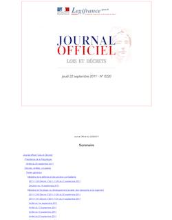 Journal officiel n°0220 du 22 septembre 2011