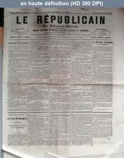 LE REPUBLICAIN DE SEINE ET MARNE  numéro 1470 du 14 octobre 1885