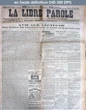 LA LIBRE PAROLE  numéro 115 du 12 août 1892