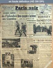 PARIS SOIR numéro 425 du 09 septembre 1941