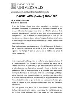 BACHELARD (Gaston) 1884-1962