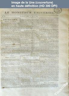 LE MONITEUR UNIVERSEL  numéro 51 du 20 février 1814
