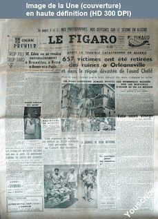 LE FIGARO  numéro 3113 du 11 septembre 1954