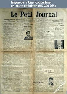 LE PETIT JOURNAL  numéro 16028 du 14 novembre 1906