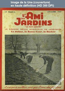 L' AMI DES JARDINS  du 01 décembre 1947