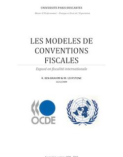 LES MODELES DE CONVENTIONS FISCALES