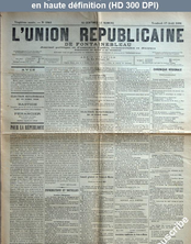 L' UNION REPUBLICAINE DE FONTAINEBLEAU  numéro 1942 du 17 avril 1896
