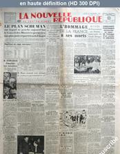 LA NOUVELLE REPUBLIQUE  numéro 976 du 03 novembre 1947