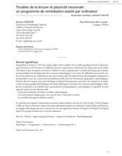 Troubles de la lecture et plasticité neuronale : un programme de remédiation assisté par ordinateur