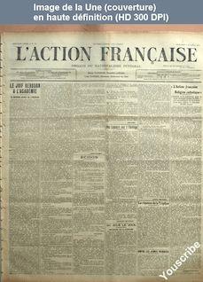 L' ACTION FRANCAISE  numéro 39 du 08 février 1914