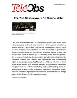 Thérèse Desqueyroux De Claude Miller